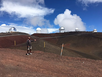 No fire clouds here on Moana Kea tour of telescopes (Source: Jay Wilbur)