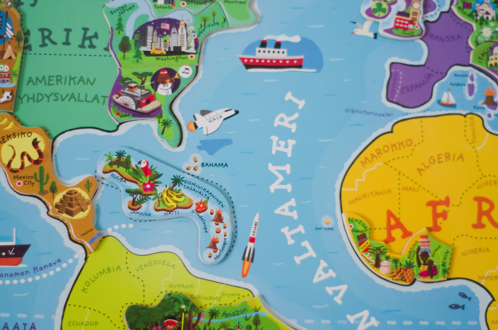 Learning At Home Fun With The World Map Magnetic
