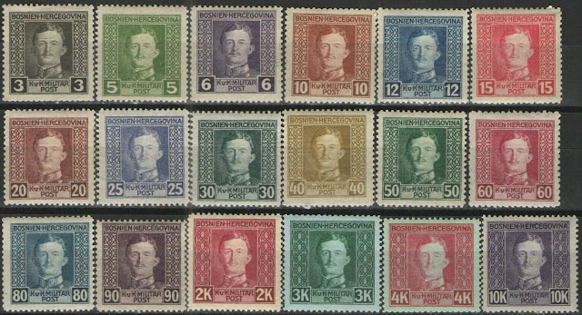 Bosnia Karl I Military Stamps