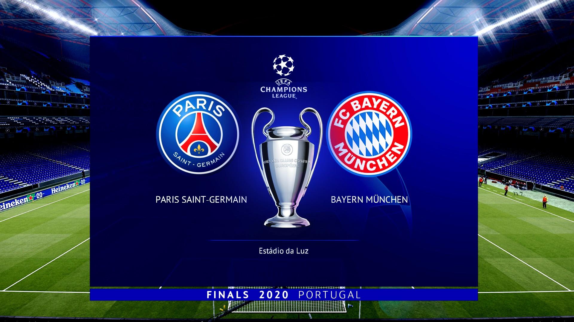 PES 2020 UEFA Champions League Final 2020 | PSG vs Bayern ...