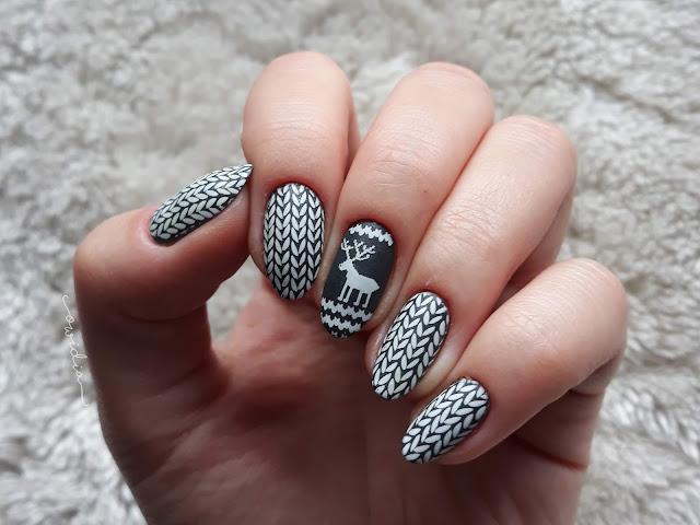 BLOGMAS, dzień 8. Reindeer nails, czyli paznokcie w norweskim swetrze