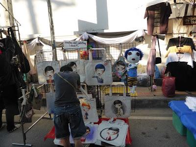 Puesto del Sunday Market de Chiang Mai