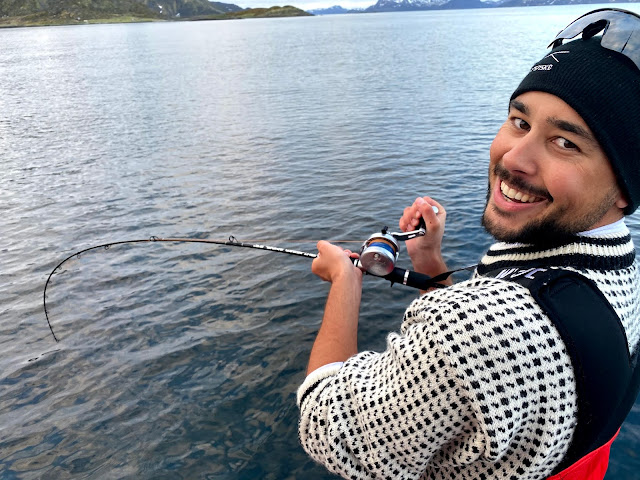 Kveite på 45 kg kjøres på Sørøya. Photo kred: Bilal Saab