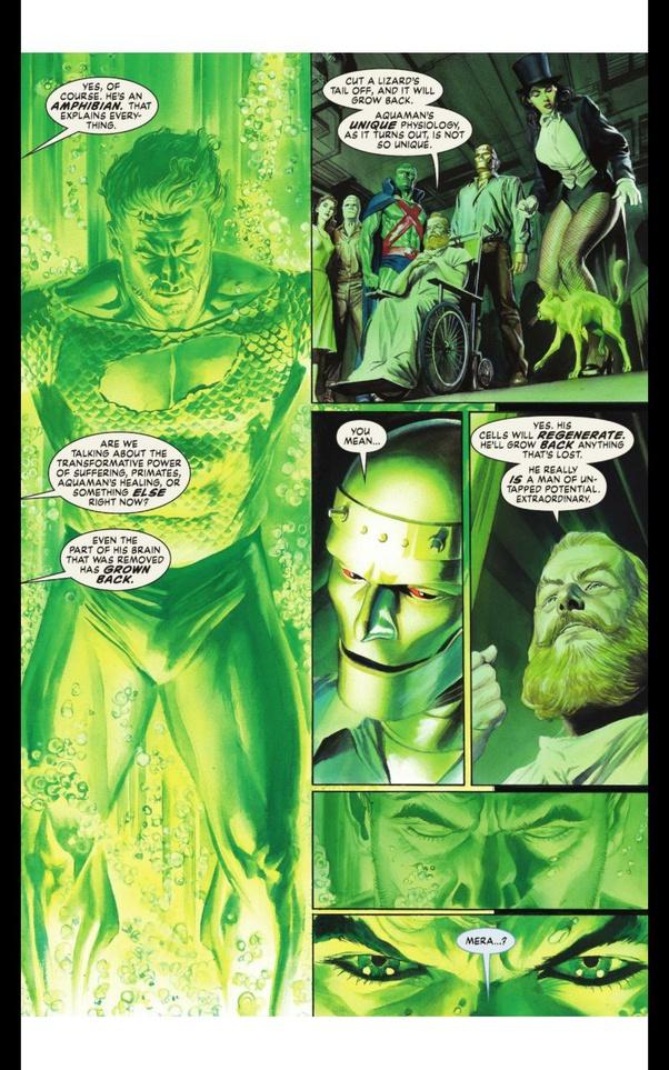 Aquaman có khả năng tái tạo đáng kinh ngạc