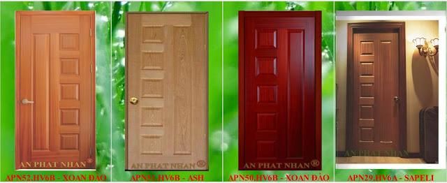 Cửa gỗ phòng ngủ An Phát Nhân bằng nguyên liệu nhập khẩu