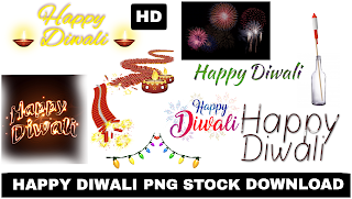 happy diwali, text png & crackers png hd background free download