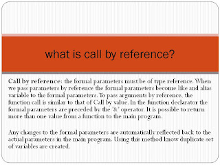 call by reference?