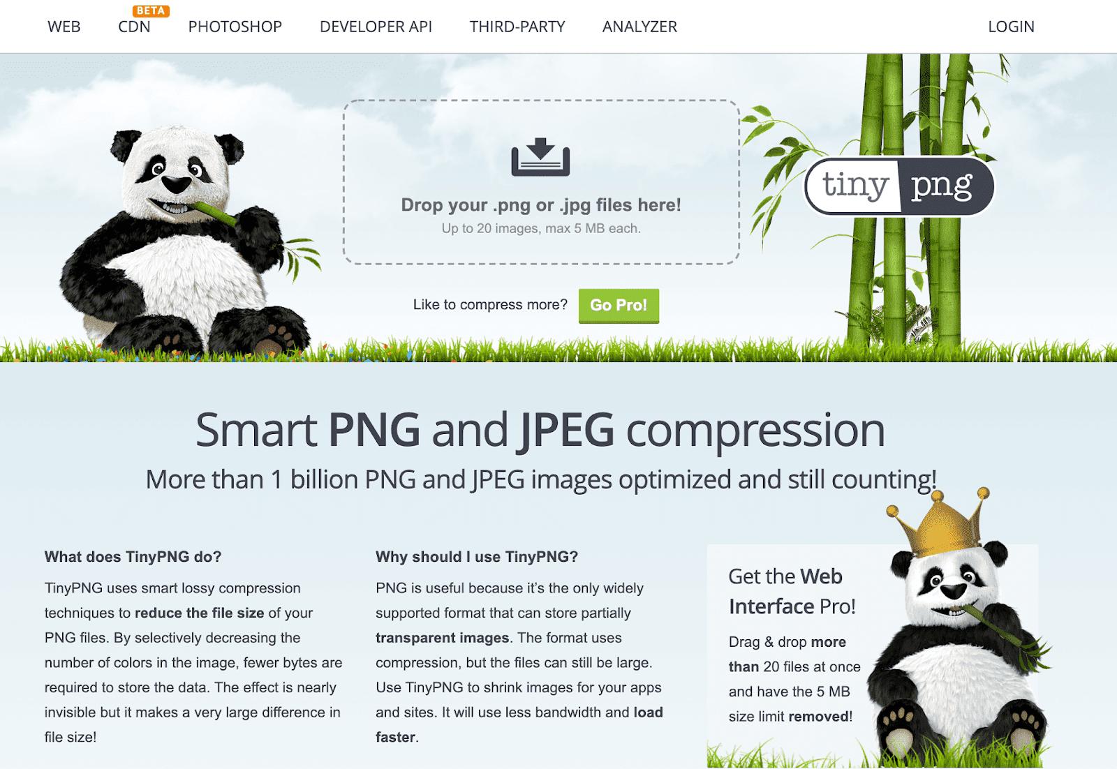 [jpg smaller] tinypng.com에서 이미지 압축하기
