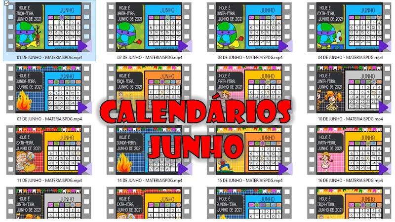 CALENDÁRIO DIÁRIO - JUNHO DE 2021 - DOWNLOAD