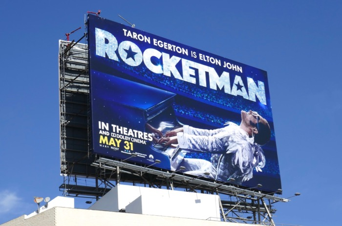Rocketman movie billboard