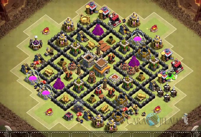 Base War TH 8 di Clash Of Clans Terbaru 2017 Tipe 14