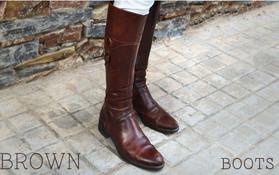 4 maneras de llevar... botas marrones