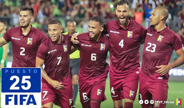 DEPORTES: La Vinotinto sigue haciendo historia y ascendió al puesto 25 del Ranking FIFA