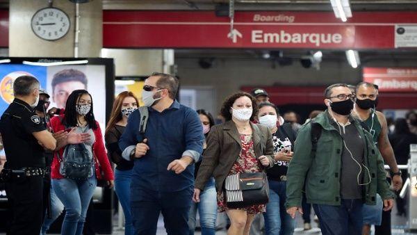 Brasil reporta 2.480.488 casos positivos a la Covid-19