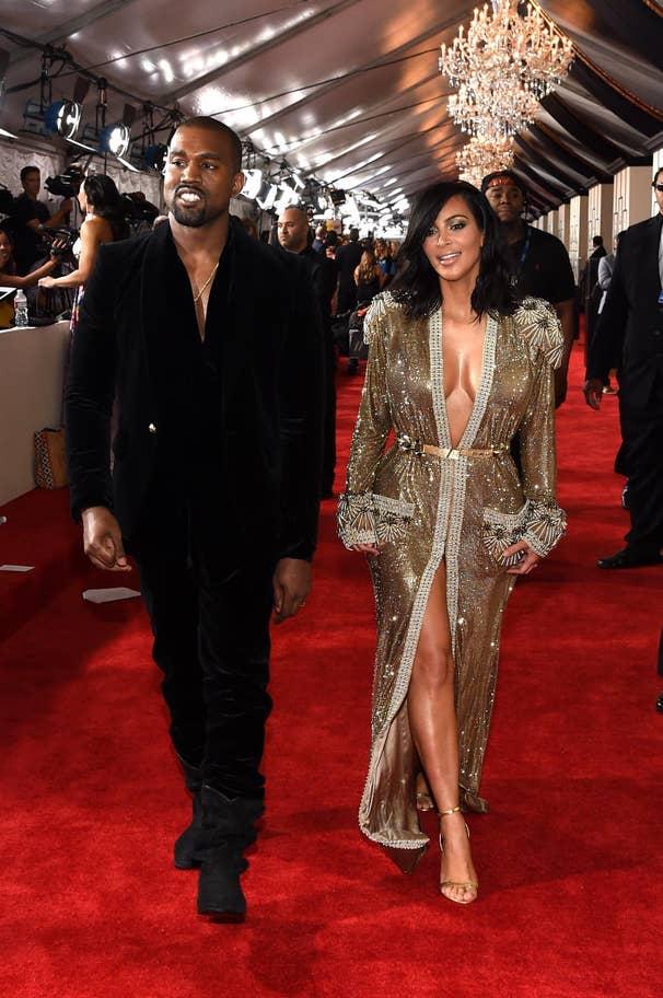 Kanye West and Kim Kardashian (2015).