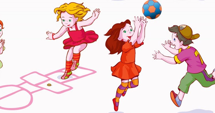 Дети играют в подвижные игры в картинках