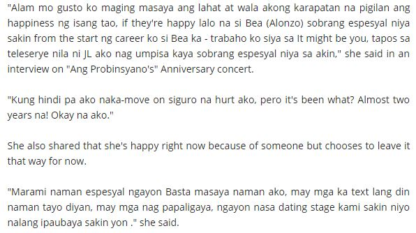 This is Maja Salvador's Reaction on Gerald-Anderson-Bea Alonzo Romance!