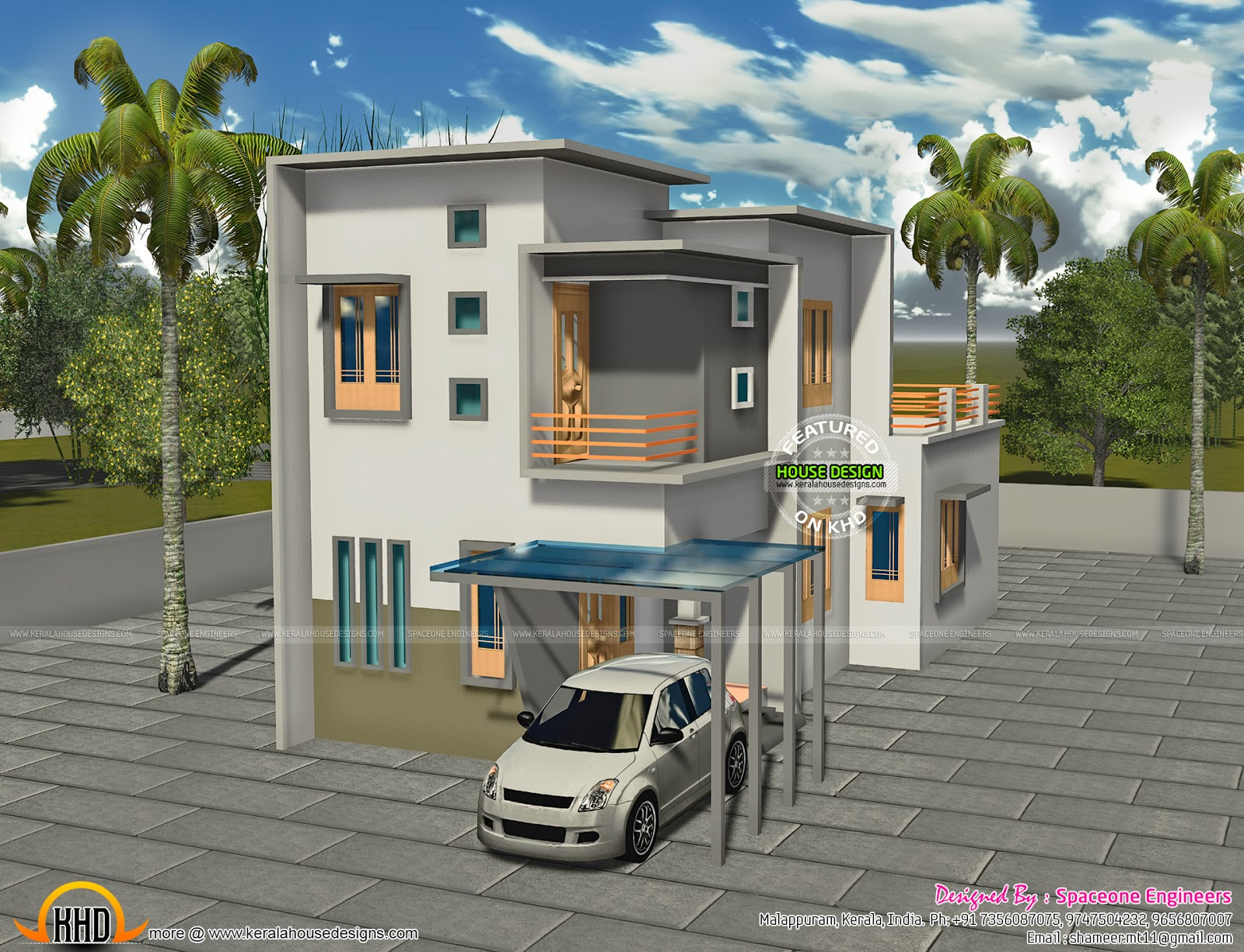 3 Bhk Double Storied House In 1200 Sq Ft Kerala Home