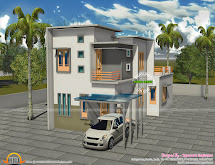 3 Bhk Double Storied House In 1200 Sq-ft - Kerala Home
