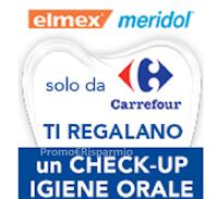 Logo Elmex&Meridol ti regalano un check up igiene orale con Carrefour