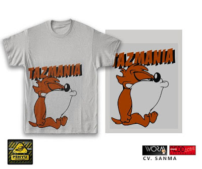 Cool Tazmanian Devil Cartoon Design for T-Shirt - Tees