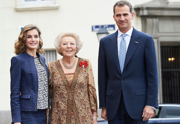 King Felipe, Queen Letizia, Princess Beatrix attended the opening of the exhibition El Bosco, the 5th Centenary Exhibition at Prado Museum
