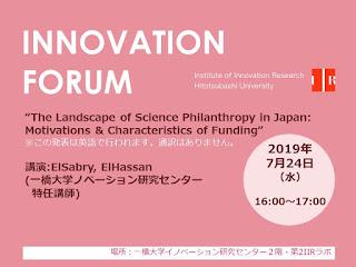 【イノベーションフォーラム】2019.7.24 ElSabry, ElHassan