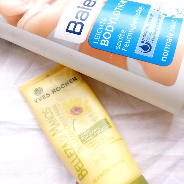 How to Relax & Spa at Home on the Weekend, balea body lotion, yves rocher, hand cream