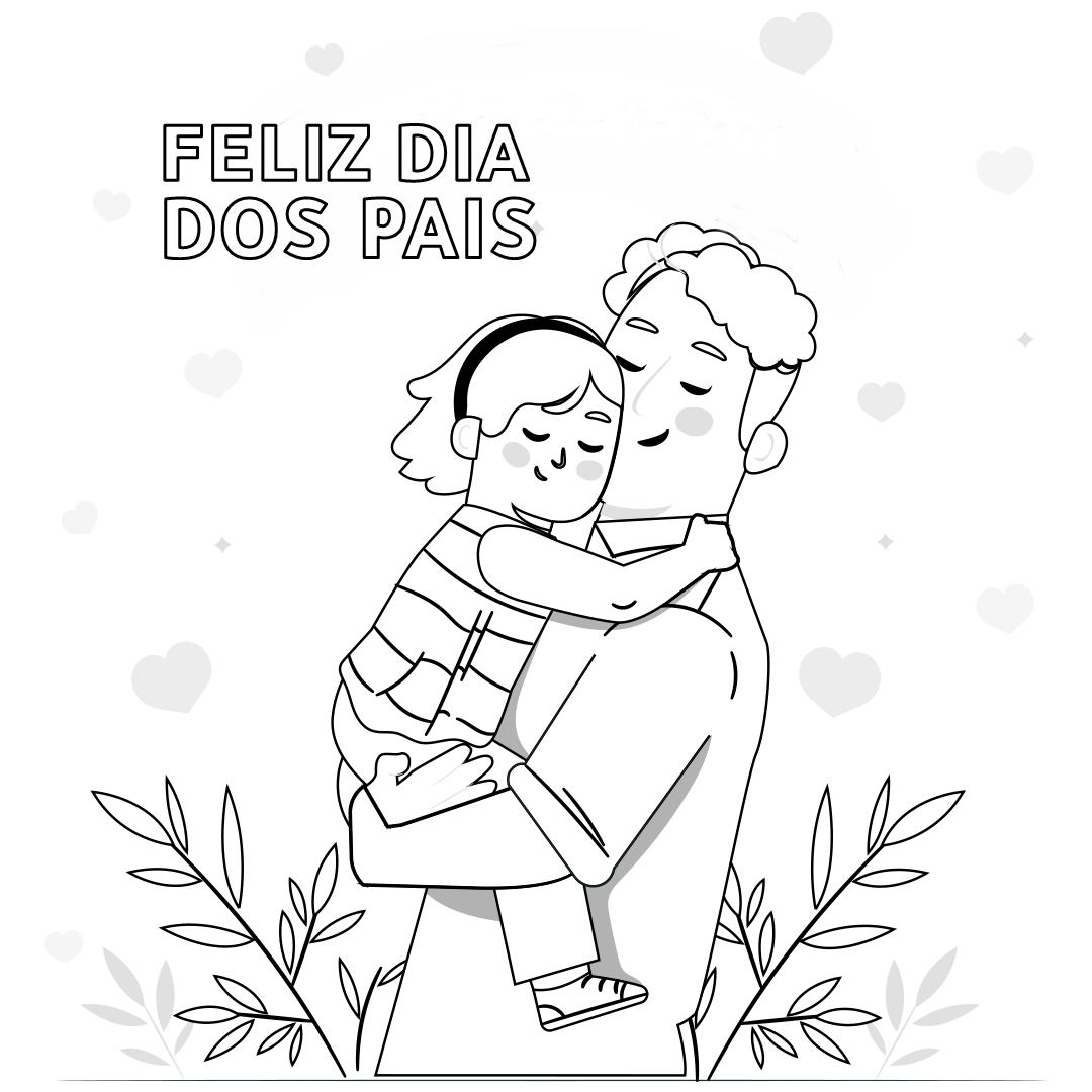 Desenho de colorir para Dia dos Pais imprimir grátis