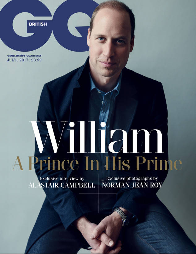 Prince William Covers British GQ's July 2017 Issue