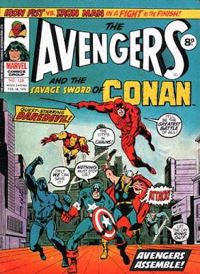 Marvel UK, Avengers #128, Daredevil