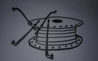 Gambar susunan jari motor