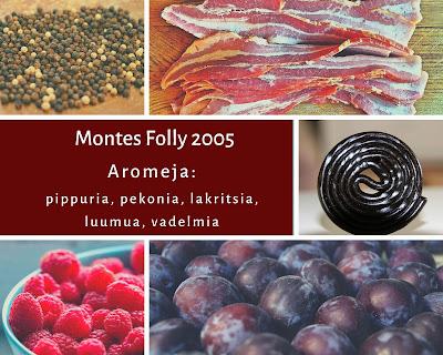Punaviini Montes Folly 2005 ja talven maistelumenu, Viinihetki