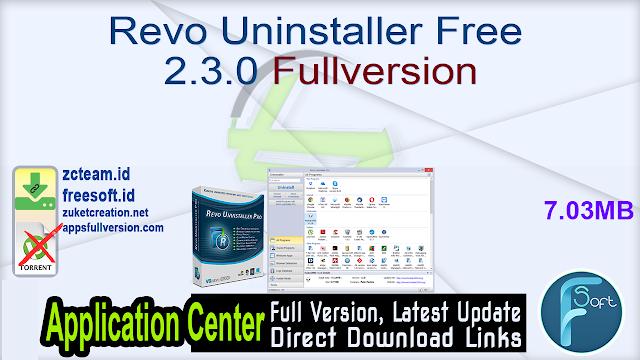 Revo Uninstaller Free 2.3.0 Fullversion