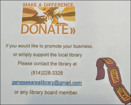 Genesee Area Library looking for Donations for Chinese Auction