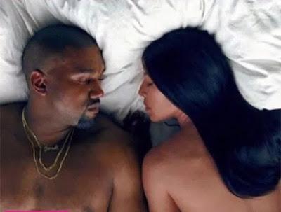 kanye west, kim k, shocking video, Famous video