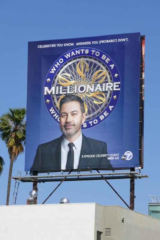 Who Wants to Be a Millionaire Jimmy Kimmel billboard
