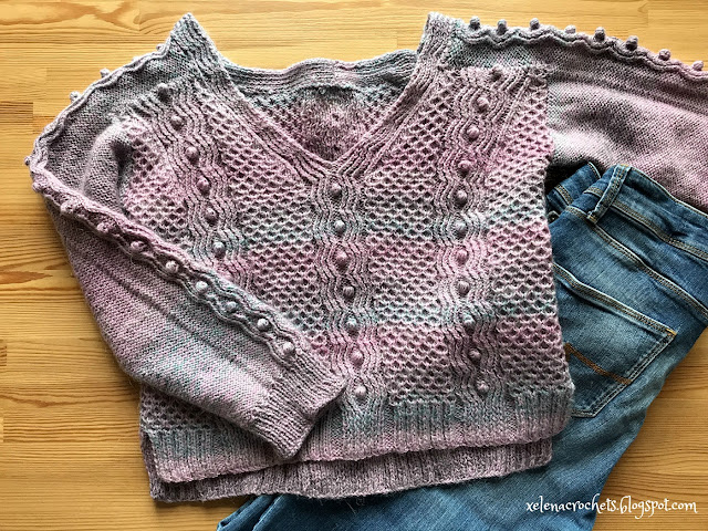 пряжа Nako Mohair Delicate Colorflow свитер Daydreamer от Andrea Mowry