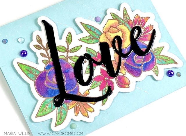 #mariawillis, #cardbomb, #concord&9th, #craftyfriends, #cards, #stamp, #ink, #paper, #papercraft, #craft, #create, #art, #handmade, #handmadecards, #love, #flowers, #watercolor, #tonicstudios, #tonicstudiosusa, #nuvo, #nuvoshimmerpowder,