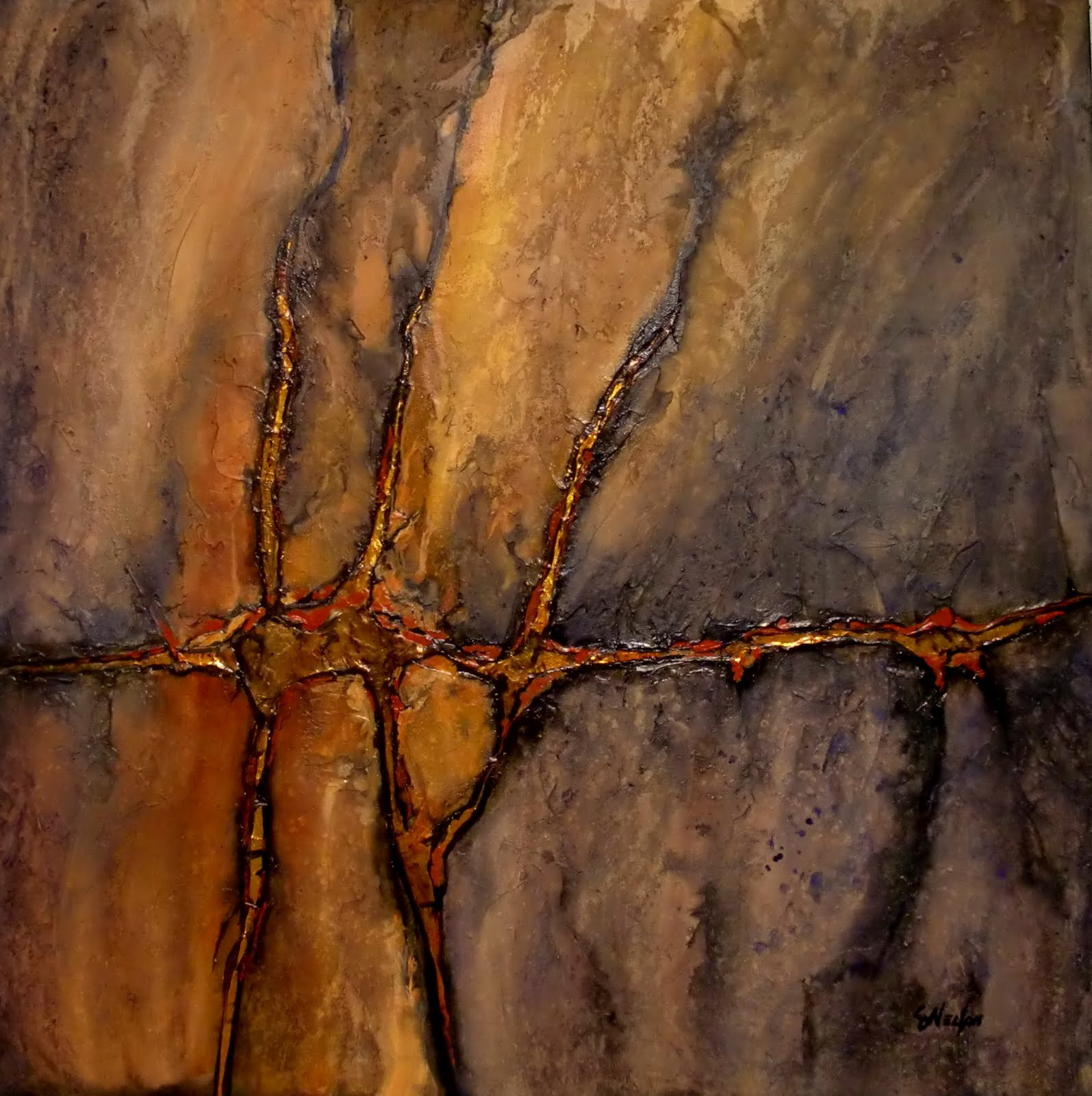 "CAROL NELSON FINE ART BLOG: ""GOLD VEIN"" 11061, textured ..."