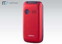 Telefon myPhone Flip II czerwony z Biedronki