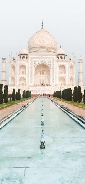 خلفية قصر تاج محل الشهير في الهند