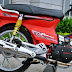 Sơn Honda Dream màu đỏ nhám cực đẹp