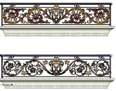balkon mewah untuk pagar antik