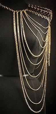 body chains, Finger Ring Hand Chain Bracelets, chain-Shoulder Necklace jewelry