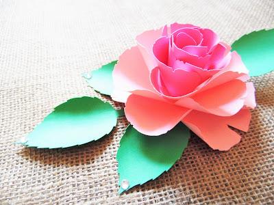 Paper Rose Template 8
