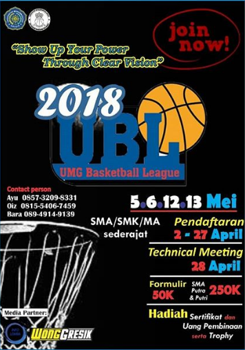 Lomba Basket Tingkat SMA UMG Basketball League 2018