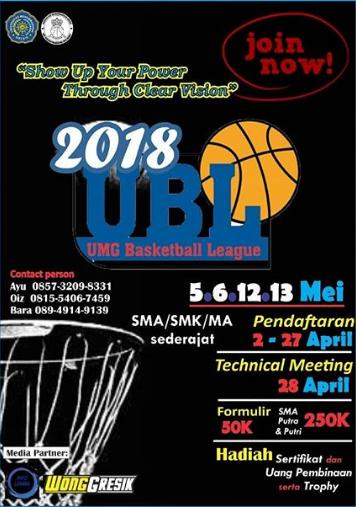 Lomba Basket Tingkat SMA UMG Basketball League 2018