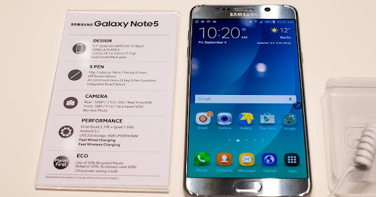 Samsung Galaxy Note 5 review key features and full specificatios