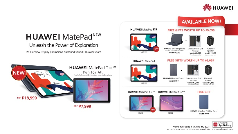 New Huawei MatePad, MatePad T10 LTE launched in PH